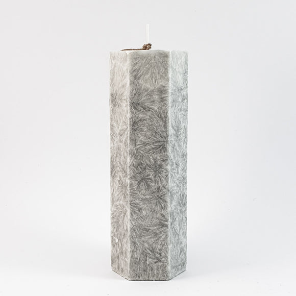 Stearin lace candle ⌀ 5x15 cm, light purple
