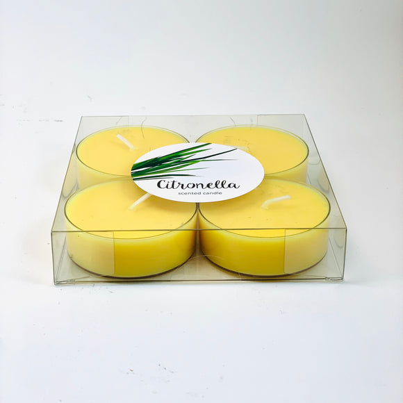 Large scented tealights with Citronella (anti-mosquito)
