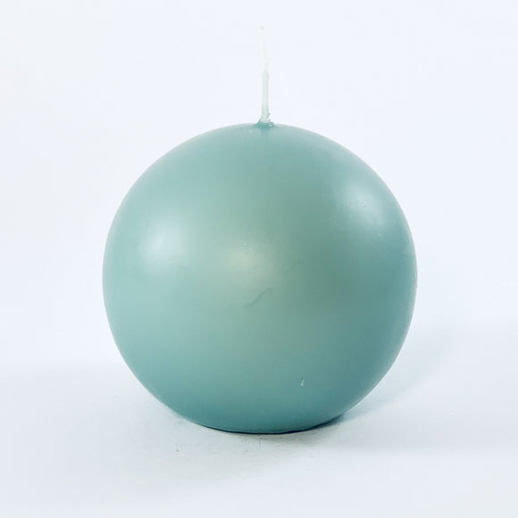 Powderpressed candle ball ⌀ 8 cm, pigeon blue