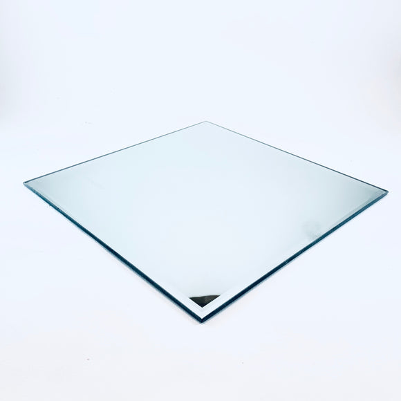 Glass candle pad, mirror surface, ⌀ 25 x 0,3 cm