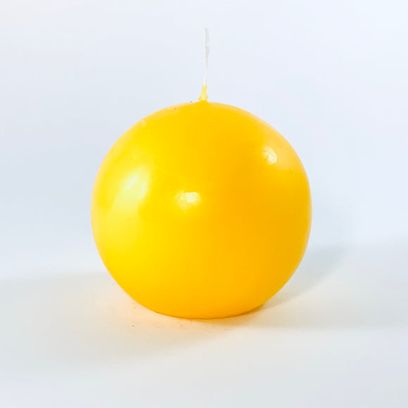 Powderpressed candle ball ⌀ 8 cm, yellow