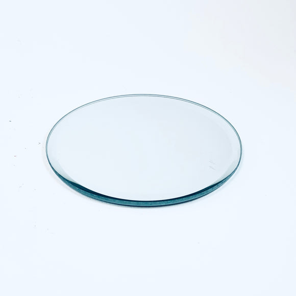 Glass candle pad, mirror surface, ⌀ 10 x 0,3 cm