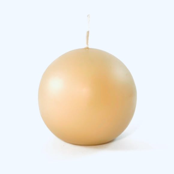 Powderpressed candle ball ⌀ 8 cm, linen