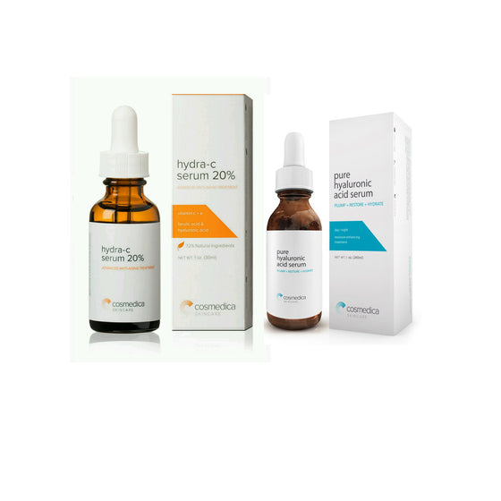 Vitamin C Serum 20% and Hyaluronic Acid Serum Combo Set
