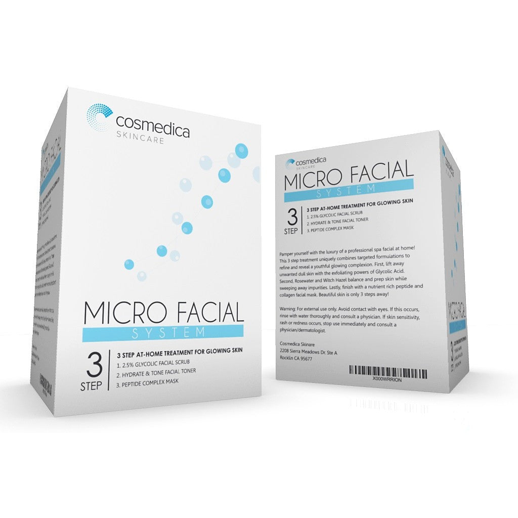 MICRO FACIAL SYSTEM 3 Step At Home Treatment For Glowing Skin - Cosmedica Skincare  - 2