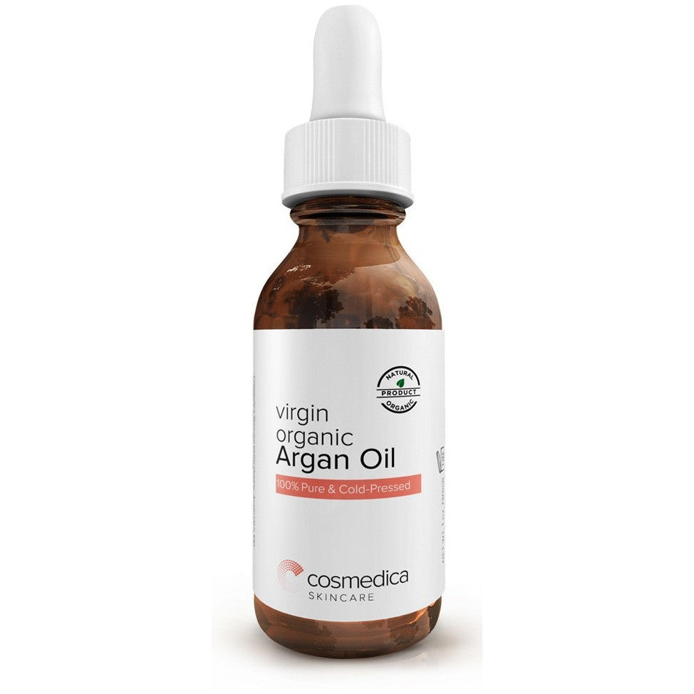 ORGANIC Virgin Argan Oil For Hair, Skin, Face, Nails, Cuticles & Beard- Best 100% Anti-Aging Secret,Cold Pressed Moisturizer - Cosmedica Skincare  - 2