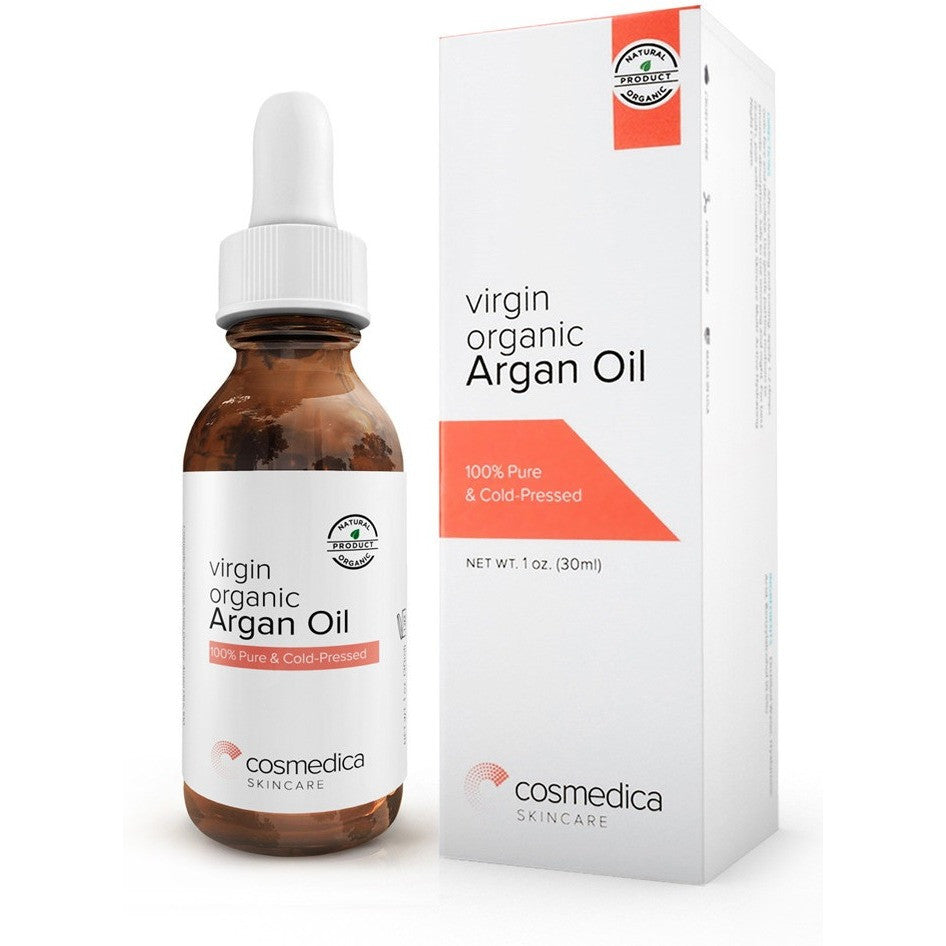 ORGANIC Virgin Argan Oil For Hair, Skin, Face, Nails, Cuticles & Beard- Best 100% Anti-Aging Secret,Cold Pressed Moisturizer - Cosmedica Skincare  - 1