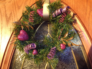 Hand- Arranged Pink Holiday Wreath