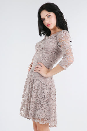 Nikibiki V-Neck Fit & Flare Lace Dress