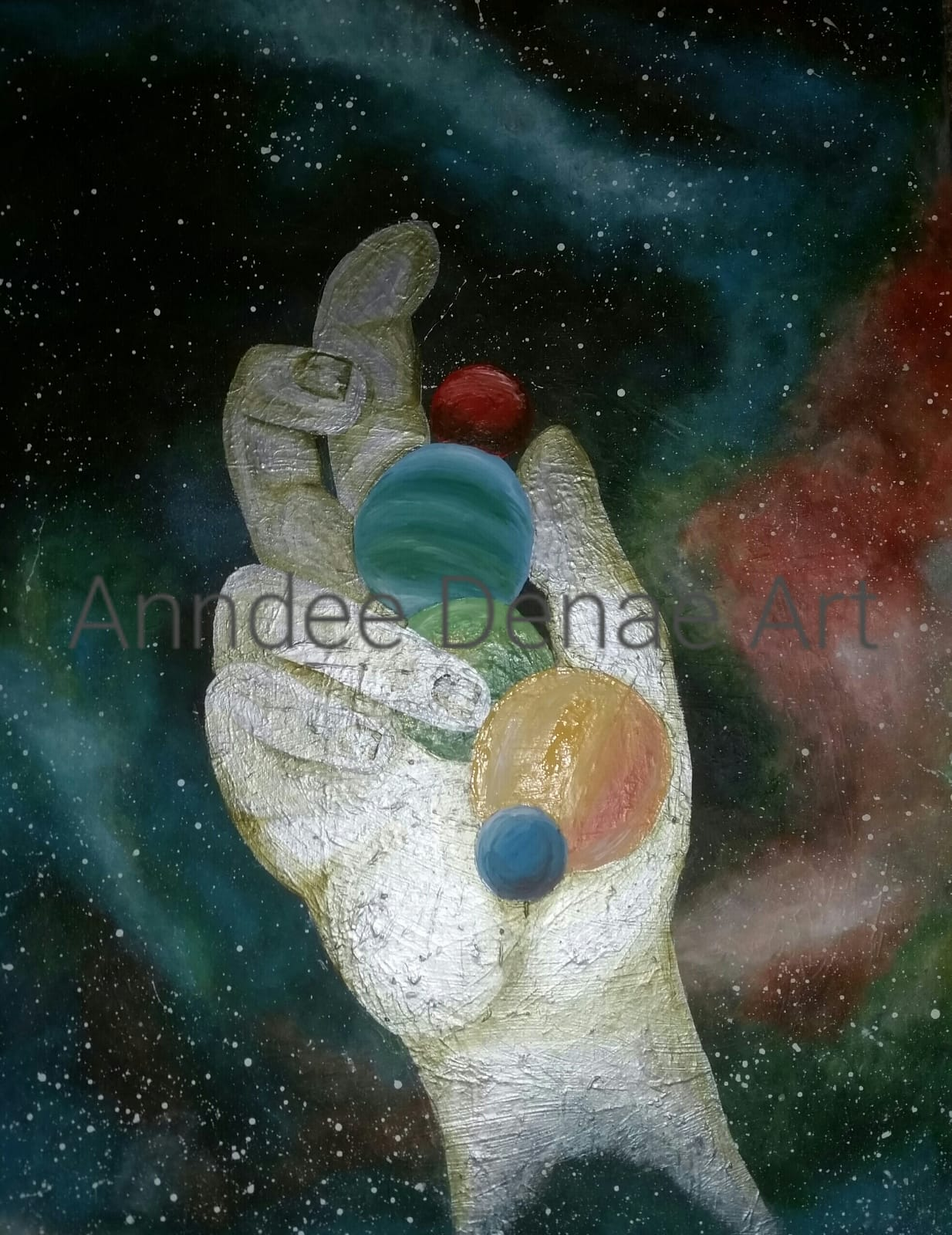 """The Hand of Creation""  22""x28"" Acrylic on Canvas"