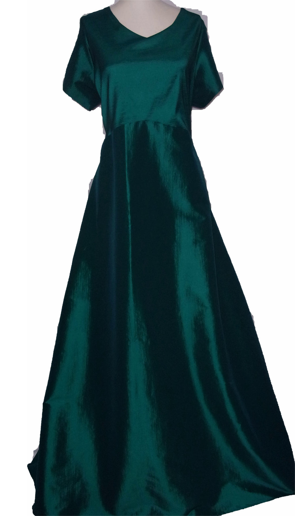 RCLF0416 Stretch Taffeta Full length Gown