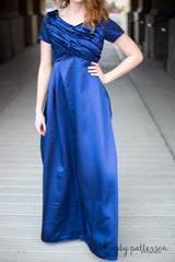 Full Length Satin Gown, RCLF0815