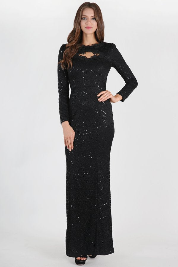 Nikibiki Long Sleeve Sequin Lace Dress