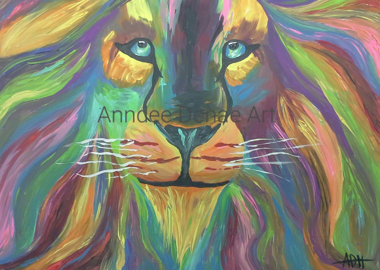 """Lion"" 18""x24"" Acrylic on Canvas"