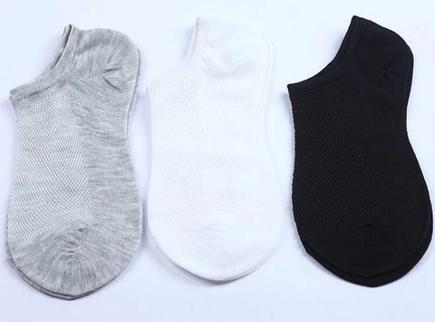 Sports Socks Cotton Unisex Breathing Solid 3 Colors