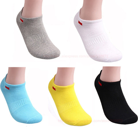 Sports Socks Unisex Cotton Breathing Solid 5 Colors