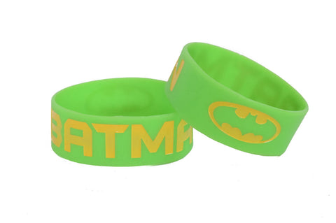 Wristband 30 mm Silicone Rubber Loop Band - BATMAN