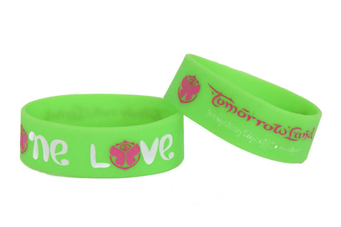 Wristband 30 mm Silicone Rubber Loop Band - One Love Tomorrowland