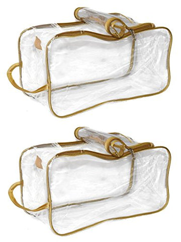 Sunshine Top Double Shoes Pouch Travelling Waterproof Organizer Bag (Transparent) -2 Pieces
