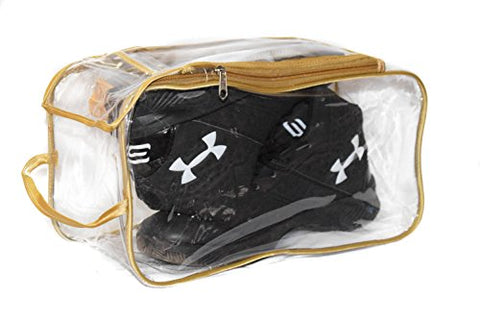 Big TOP Double Shoes Pouch Travelling Waterproof Organizer Bag Socks Easy Carry Cover Bag - Transparent