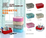 Cosmetic Bag Pouch Transparent Top Make up box 1 pc - ANY COLOR