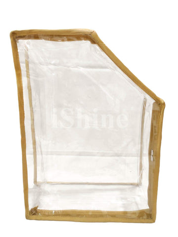 iShine PU Clear Transparent Blouse Organiser Cover (Gold)