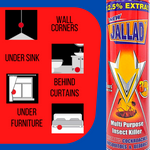 Jallad Multi Purpose Insect Cockroach Mosquitoe Bedbug Killer 3 in 1 Spray 450ml