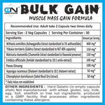 Canada Nutrition Bulk Gain | Muscle Mass Gainer for Men and Women - 60 Capsules