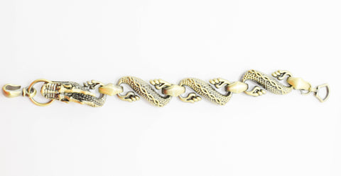 Fashion Bracelet Brass color Chain Style - Dragon