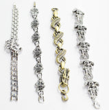 Fashion Bracelet Chrome Chain Style - Pirate Anchor
