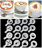 Set of 16 Coffee Design Stencils