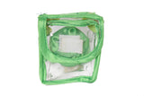 Satin premium Bangle Roll Pouch (F.Green, Small) 2 Pc
