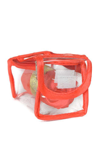 Satin premium Bangle Roll Pouch (F.Orange, Small) 1 Pc