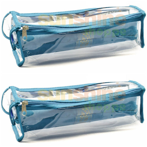 Satin premium Bangle Roll Pouch (Ferozi Blue, Large) 2 Pc
