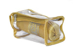 Satin premium Bangle Roll Pouch (Gold, Small) 2 Pc
