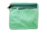 Jewellery Organizer with Multipurpose Pouch Satin Jute (12+ 1 Pouch, Green)