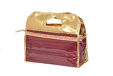 Multipurpose Makeup and Jewelry Velvet PVC Pouch Box Storage Laced