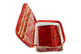 Makeup and Jewelry organizer Velvet Clear Hand Held Pouch Storage Single Decker