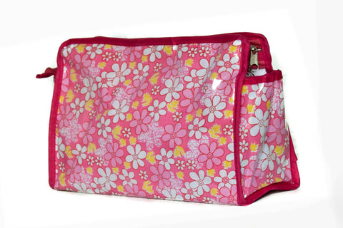 Multipurpose Morning Travel Cosmetic Medicines Make Up Pouch kit (Cotton Pink)