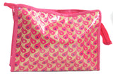 Multipurpose Morning Travel Cosmetic Medicines Make Up Pouch kit (Brocade - Pink)
