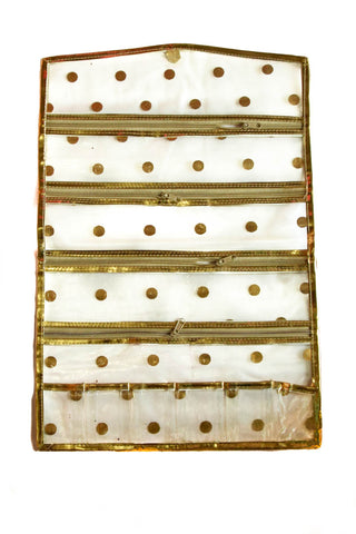 Golden Accessories Storage Jewelry Fashion Handicraft Organizer Hanging 5 fold (Large)