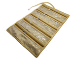 Payal Chain Necklace Jewellery Wrist Watch Pouch Roll Organiser - Jute Silk - Beige