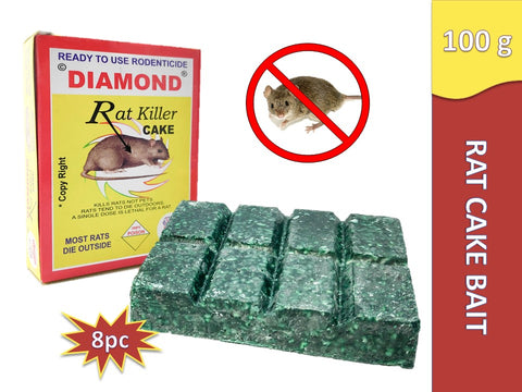 Diamond Rat Killer Biscuit Rat Cake Poison Rodent Killer Control 100g - Set of 2