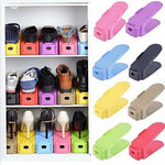 Shoes Slots Organizer Space Saver Rack Holder - Set of 6 (Multi Color)