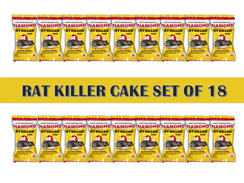 Diamond Rat Killer Rat Cake Biscuit Rodent Control Poison (25 g x 18)