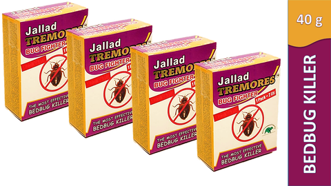 Jallad Tremores Bug Fighter Powerful BedBugs & Termites Killer Spray Powder Base Formula (40 gm)