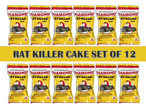 Diamond Rat Killer Rat Cake Biscuit Rodent Control Poison (25 g x 12)
