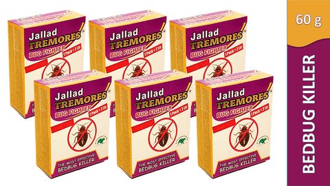 Jallad Tremores Bug Fighter Powerful BedBugs & Termites Killer Spray Powder Base Formula (60 gm)