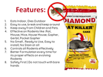 Diamond Rat Killer Rat Cake Biscuit Rodent Control Poison (25 g x 6)