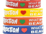 Wristband 24 mm Silicone Rubber Lock Pattern One Direction